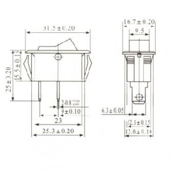 Chave Gangorra KCD6-101 Preta Com Marcação 2T