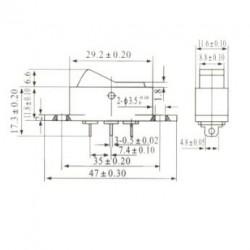 Chave Gangorra KCD7-102 Preta 3 Terminais