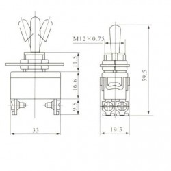 Chave Alavanca KN-1221 (4T Liga/Desliga)