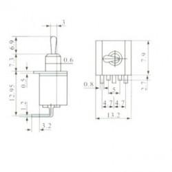 Chave Alavanca MTS102-C3 Para Placa 90 Graus (3T Liga/Liga)