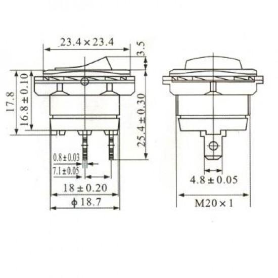 Chave Gangorra KCD1-108-101 Preta