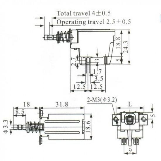 Chave Tecla KDC-A04-1