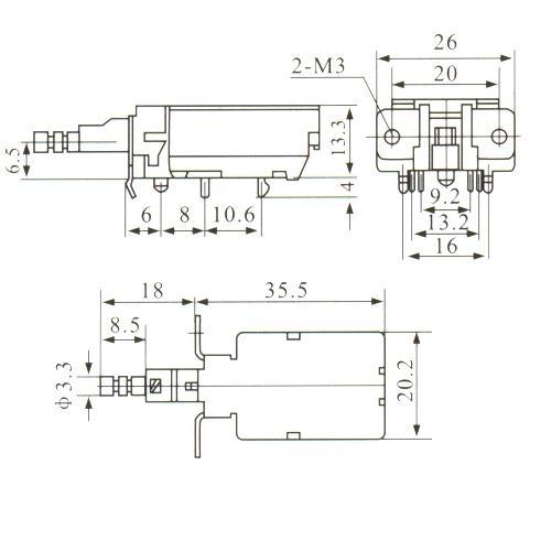 Chave Tecla KDC-A08-3 Com Trava