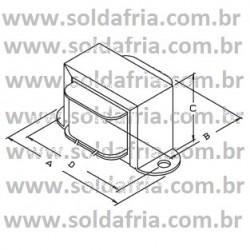 Transformador 4,5+4,5V 300mA - Entrada 110/220VAC