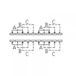 Chave HH SK-43D01 G7 G10 16 Terminais + 4 Fixação 90 Graus