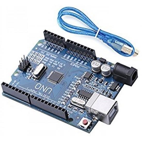 UNO R3 (Baixar Driver - CHIP CH340G ) SMD Atmega328P Com Cabo