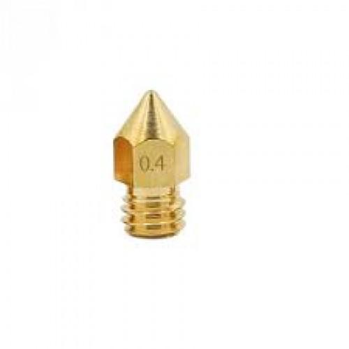 Bico 0,4mm Para Cabeca J E3D V6 Holtend Extrusora MK8 3D Filamento 1,75mm