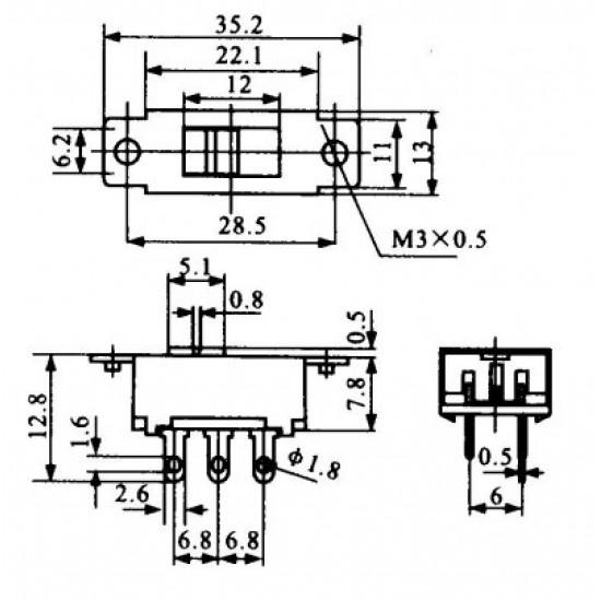 Chave HH 110/220 Grande Sem Rosca (SS22K15)