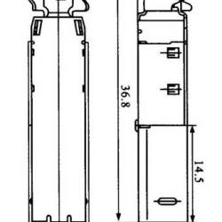 Conector USB-B Macho YH-USB04