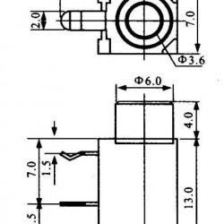 Jack J2 Mono Para Placa Circuito Fechado