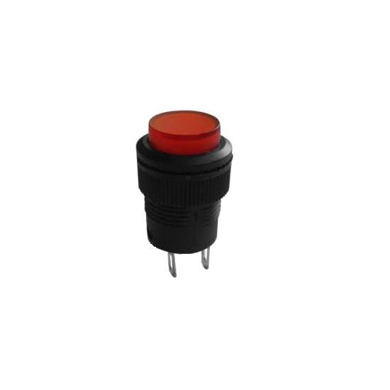 Chave Push Button R16-503A Com Trava Sem Led Vermelha 2T