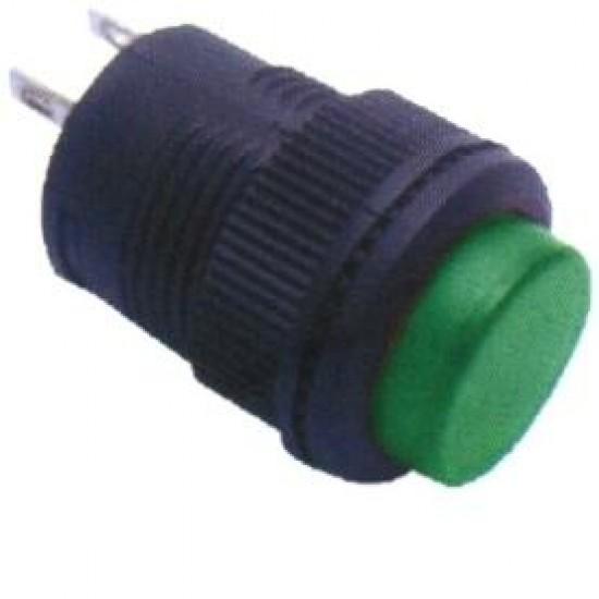 Chave Push Button R16-503B Sem Trava Sem Led Verde 2T
