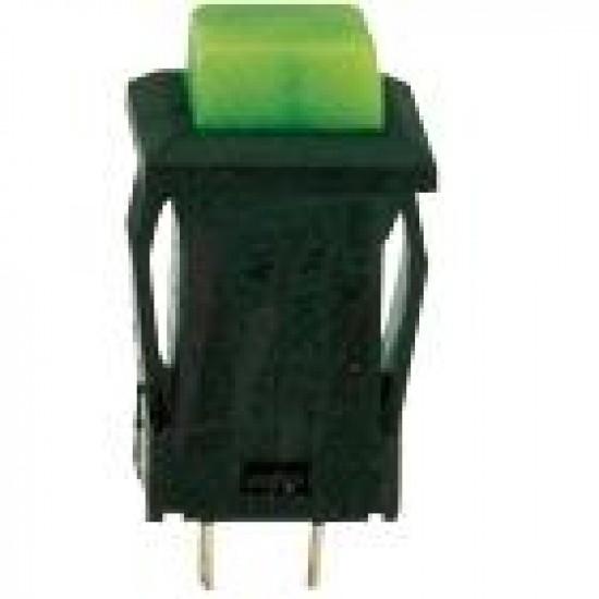 Chave Push Button DS-429 Verde 2T Com Trava