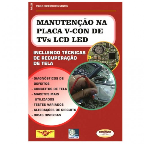 Livro Manutenção na Placa V-Con de TVs LCD e LED