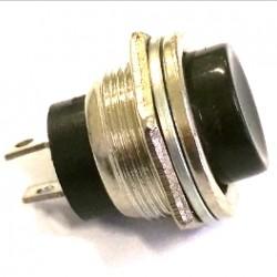 Chave Push Button DS-212 Sem Trava Metal Preta