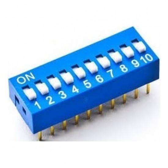 Chave Dip Switch 10 Vias 180 Graus (KF1001-10)