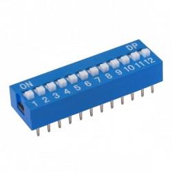 Chave Dip Switch 12 Vias 180 Graus (KF1001-12)
