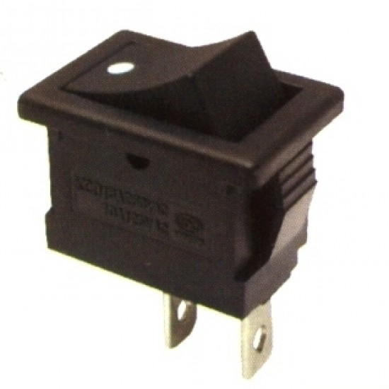 Chave Gangorra KCD1-101 Pulsante NA Preta Com Ponto