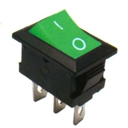 Chave Gangorra KCD1-102 Verde 3 Terminais
