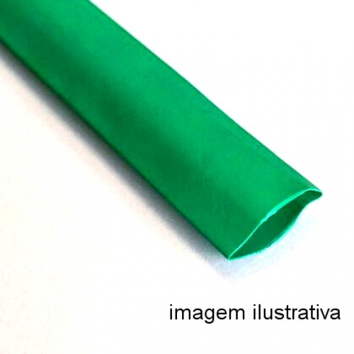 Espaguete Termo-Retratil Diametro 1,5mm Verde (Metro)