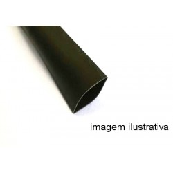 Espaguete Termo-Retratil Diametro 10mm Preto (Metro)