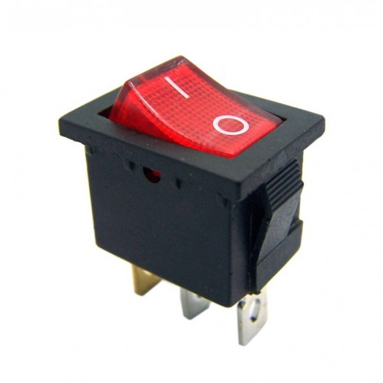 Chave Gangorra KCD1-102N Vermelha Com Neon