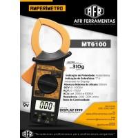 ALICATE AMPERÍMETRO DIGITAL - AFR - MT6100