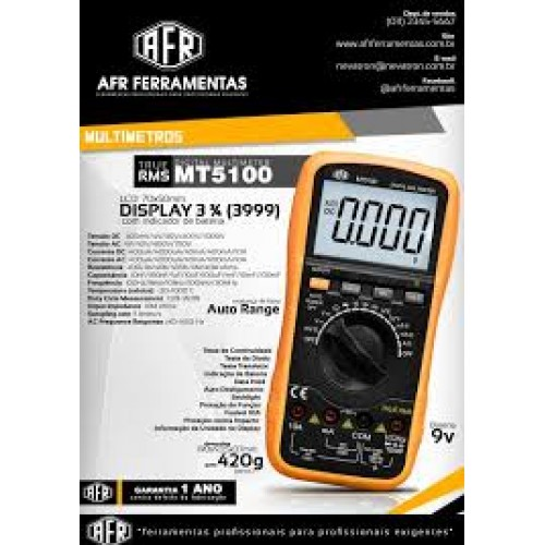 MULTÍMETRO DIGITAL AFR - MT5100