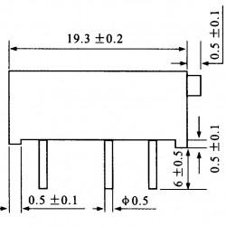 Trimpot Multivoltas 3006P 5K Ohms (5K/502) 15 Voltas