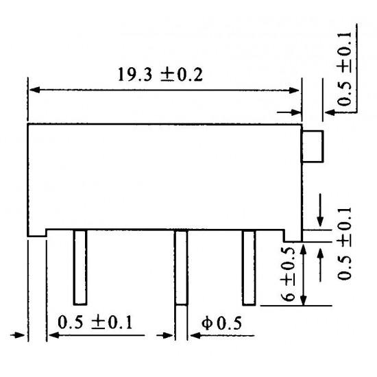 Trimpot Multivoltas 3006P 50 Ohms (50R/500) 15 Voltas