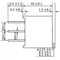 Trimpot Multivoltas 3296W 1K Ohms (1K/102) 25 Voltas