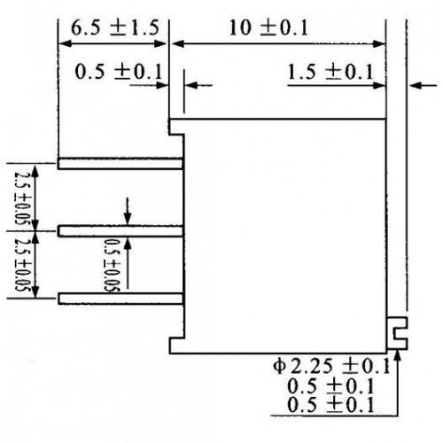 Trimpot Multivoltas 3296W 50K Ohms (50K/503) 25 Voltas
