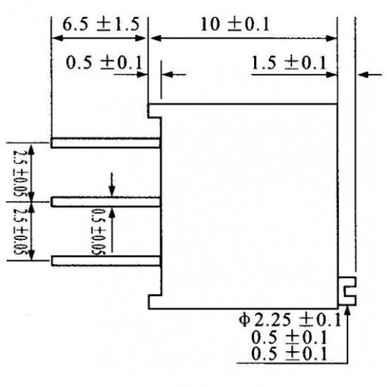 Trimpot Multivoltas 3296W 2M Ohms (2M/205) 25 Voltas