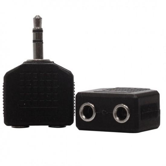 Adaptador Jack J2 Estéreo Para P2 Estéreo