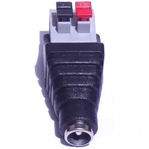 Adaptador Borne De Pressão (spring) Para J4 Fêmea 2,1mm Modelo FL-03-2