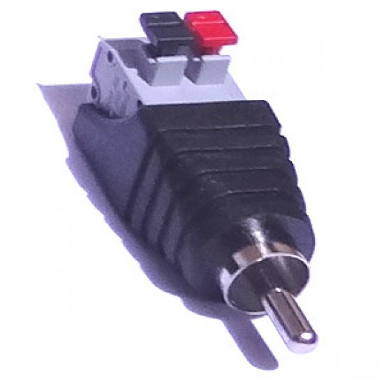 Adaptador Borne De Pressão (spring) Para RCA Macho- Modelo FL-08