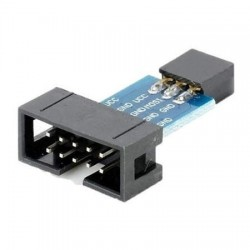 Adaptador USBASP De 10 Pinos Para 6 Pinos