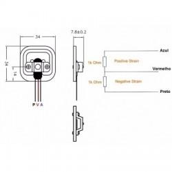 Célula de Carga Sensor de Peso 50Kg