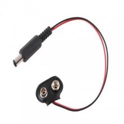 Clip De Bateria De 9V Com Plug P4 2,1mm Para Arduino