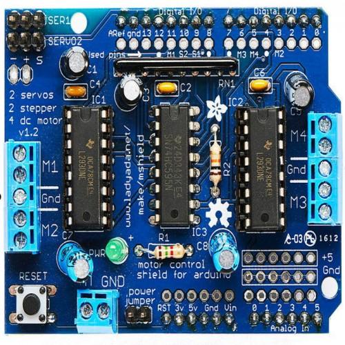 Controlador Shield L293D De 4 Motores DC Para Arduino