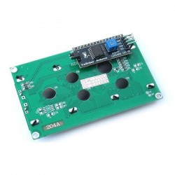 Display LCD 20x4 Tela Azul Com Interface  IIC/I2C Para Arduino