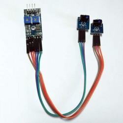 Módulo Seguidor De Linha 2 Sensores Infravermelho Para Arduino