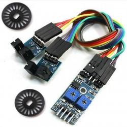Sensor Velocidade Duplo Infra Vermelho Com 2 Discos Módulo Para Arduino