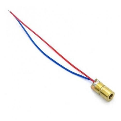 Sinalizador Laser Vermelho 5V 650nm 5mW