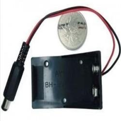 Suporte/Caixa Para Bateria De 9V Com Plug P4 2,1mm Para Arduino