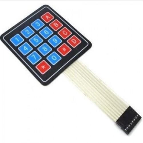 Teclado Matricial Membrana De 16 Teclas Para Arduino