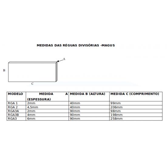 Régua Divisória Para GTA3 - RGA3A -Pequena