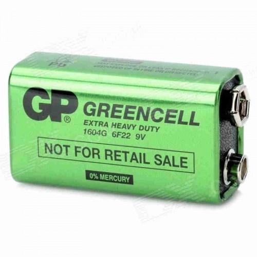 Bateria 9V Marca GP Modelo Greencell GP1604G - 6F22