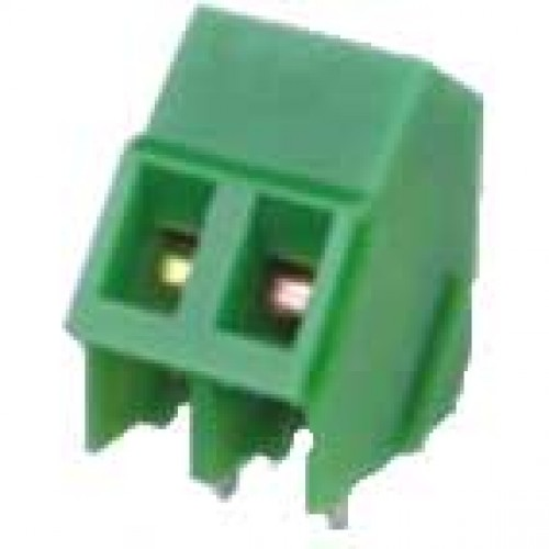 Borne KF-103 2 Terminais Verde 45 Graus