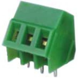 Borne KF-103 3 Terminais Verde 45 Graus
